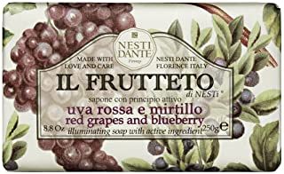 Nesti Dante Nesti dante il frutteto illuminating soap - red grapes and blueberry, 8.8oz, 8.8 Ounce