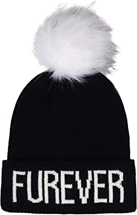 5783c702747 Hatphile Cat Lover Dog Lover Gift Soft Stretchy Furever Faux Fur Pompom  Knit Beanie Skully Toque