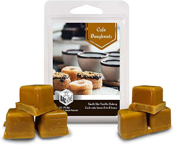 BAC Home Cafe Doughnuts Soy Blend Scented Wax Cube Melts 2 5 Oz 6 Cubes