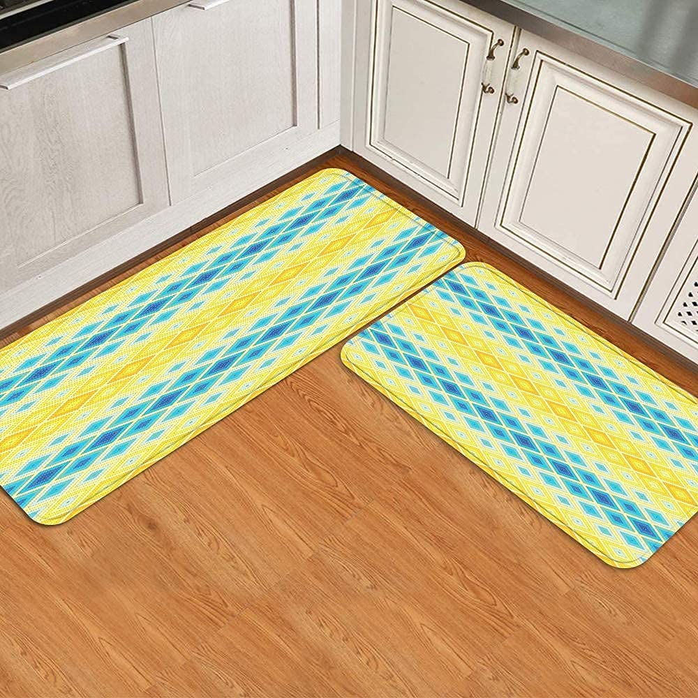 Midetoy Kitchen Rugs and Mats A surprise price is realized Max 80% OFF 2 Geometric T Pieces Ethnic Mosaic
