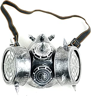Mask-It™ Silver Steam Punk Gas