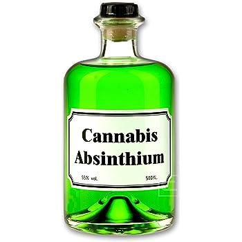 Grüner Cannabis Absinth (0,5l) Absinthe mit Cannabis Aromen verfeinert - Love, Peace & Harmony 55% vol. Spirituose