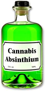 Grüner Cannabis Absinth 0,5l Absinthe mit Cannabis Aromen verfeinert - Love, Peace & Harmony 55% vol.
