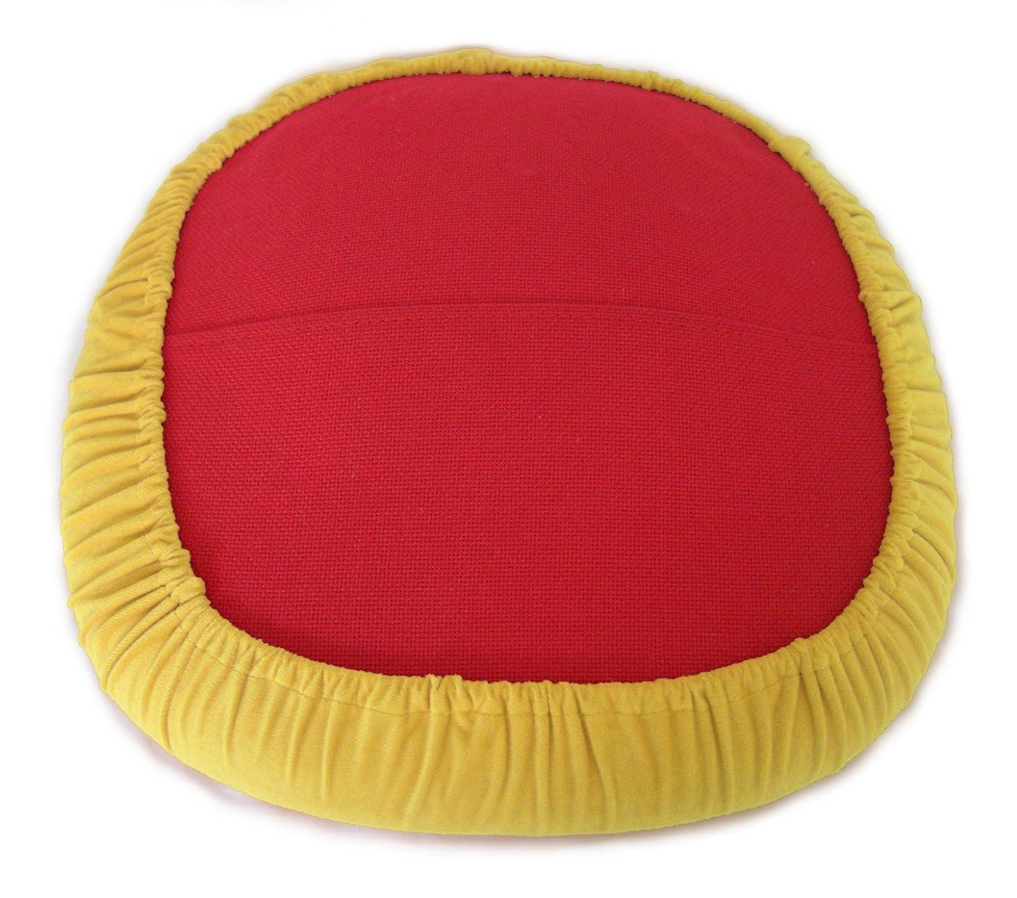 工夫する知らせるフェザースリップオンクッションカバーfor Saarinen Tulip Side Chair (イエロー)