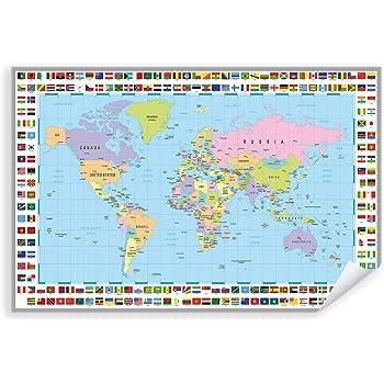 Postereck - Poster 0848 - detaillierte Weltkarte