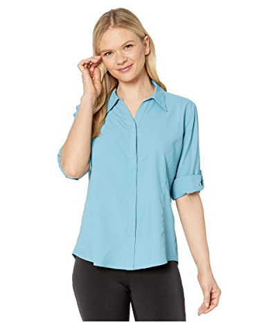 Royal Robbins Expedition Chill Stretch 3/4 Sleeve Top (Adriatic) Women