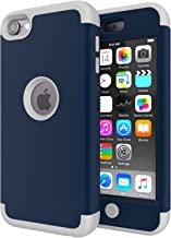 iPod Touch 7 Case,iPod Touch 6 Case,SLMY(TM)Heavy Duty High Impact Armor Case Cover Protective Case for Apple iPod touch 5/6/7th Generation Teal/Gray