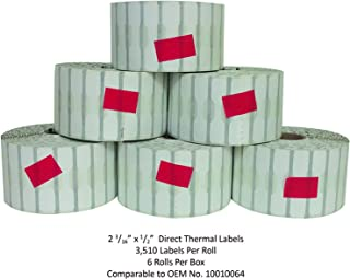 Jewelry Labels - Barbell Style, 3510 Labels Per Roll, Pack of 6 Rolls