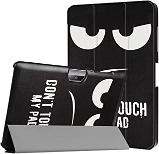 WiTa-Store Funda para Acer Iconia Tab One 10B3de A30A3de A4010.1Pulgadas Case Libro Cover Carcasa Negro Dont Touch my Pad