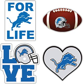 qualityprint Detroit Lions Set of 4 NFL Football Car Bumper Stickers Decals 5