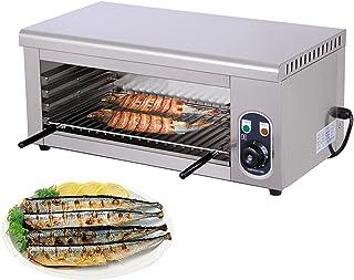 Mini four à pizza électrique commercial 2000 W avec tube chauffant, température réglable, grille-pain 2 en 1 et four élect...
