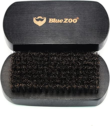 high quality BlueZOO Beard Brush Mustache Comb 2021 for Men Grooming with 100% Boar lowest Bristles - Made in Beech Wood with Firm Natural Hair online sale