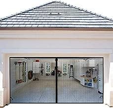 Magnetic Garage Door Screens 16x7 ft Double Door Mesh with Hook and Loop Tape Durable Fiberglass Garage Screen Cover Kit Garage Door Curtain