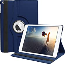 SYNTAK iPad 9.7 2018 / 2017 Case,iPad 6th Generation Cases,iPad 5th Generation Case,360 Degree Rotating Stand Folio Case Heavy Duty PU Leather Full Body Protective Cover for Apple iPad 9.7 inch