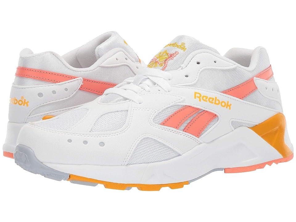 Reebok Lifestyle Aztrek (Bright Pop White/Stellar Pink/Gold/Grey) Athletic Shoes