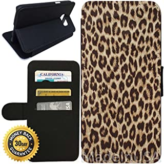 Flip Wallet Case for Galaxy S7 (Cheetah Print) with Adjustable Stand and 3 Card Holders | Shock Protection | Lightweight | Includes Stylus Pen by Innosub