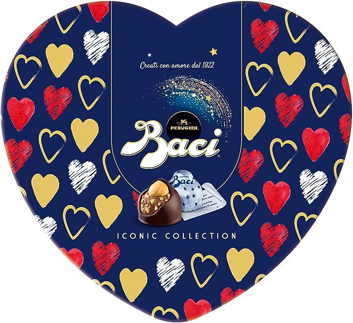San valentino - scatola cuore in latta baci perugina classica - 100 gr B081QQWY2S