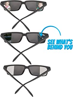 Bedwina Spy Glasses for Kids in Bulk - Pack of 3 Spy Sunglasses with Rear View So You Can See Behind You, for Fun Party Favors, Spy Gear Detective Gadgets Gifts for Boys and Girls