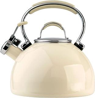 Prestige Steel Whistling Kettle, 2 L - Almond