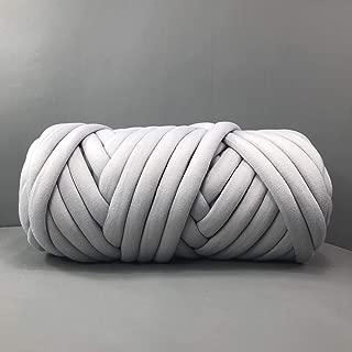 Zituop Super Soft Chunky Bulky Yarn Washable Merino Wool Alternative Yarn for Arm Knitting Hand Knitting Crochet Blanket Rugs, 1Lb-20M, Light Grey