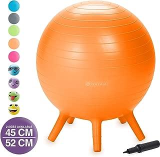 Gaiam Kids Stay-N-Play Children's Balance Ball – Flexible School Chair Active..