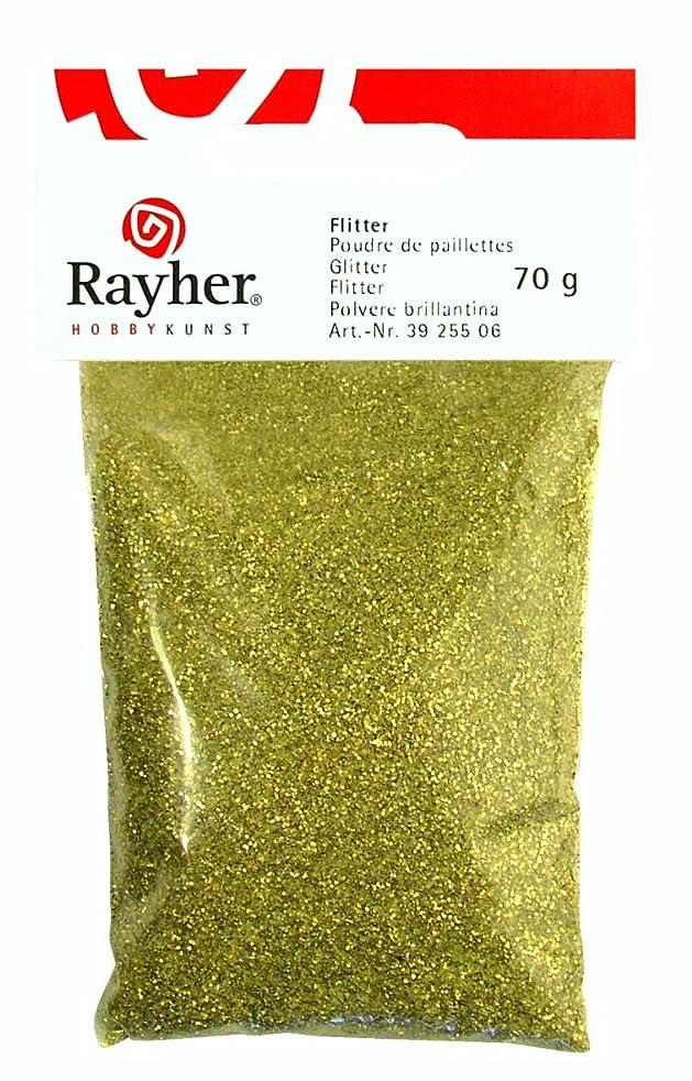 RAYHER 3925506?Glitter Glass/Aluminium Pack of 70?g, Gold