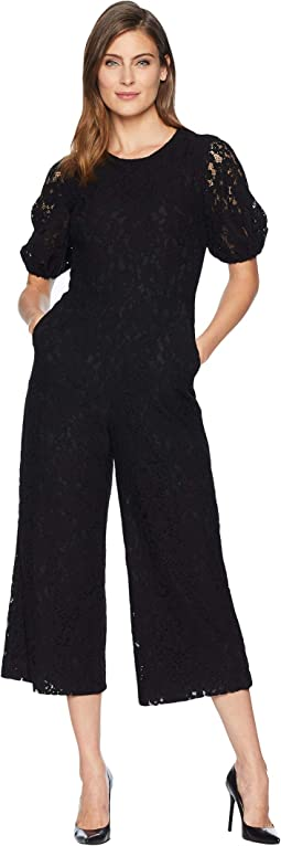 Cropped Lace Jumpsuit