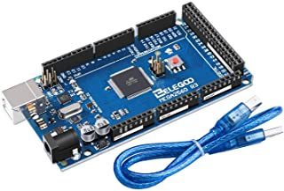 ELEGOO Mega 2560 R3 Tarjeta Placa Compatible con Arduino IDE con Microcontrolador Basada en el ATmega2560 ATmega16U2 con U...