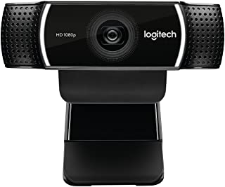 Logitech C922 Pro Stream Webcam, HD 1080p/30fps or HD 720p/60fps Hyperfast Streaming, Stereo Audio, HD light correction, A...