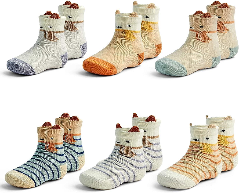 Baby Non Slip Socks Boys Cotton Socks With Grips For Baby Girls Non Skip Knee Socks