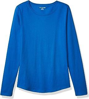 Amazon Essentials Women's Classic-Fit 100% Cotton Long-Sleeve Crewneck T-Shirt
