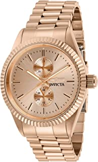 Men's Specialty Quartz Watch with Stainless Steel Strap, Rose Gold, 22 (Model: 29436)