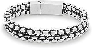 Steve Madden Men's Stainless Steel Chain Bracelet - SMMB75464BS