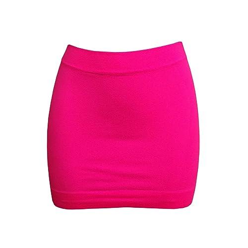 aaab0c16f64880 Pink Mini Bodycon Skirt: Amazon.co.uk