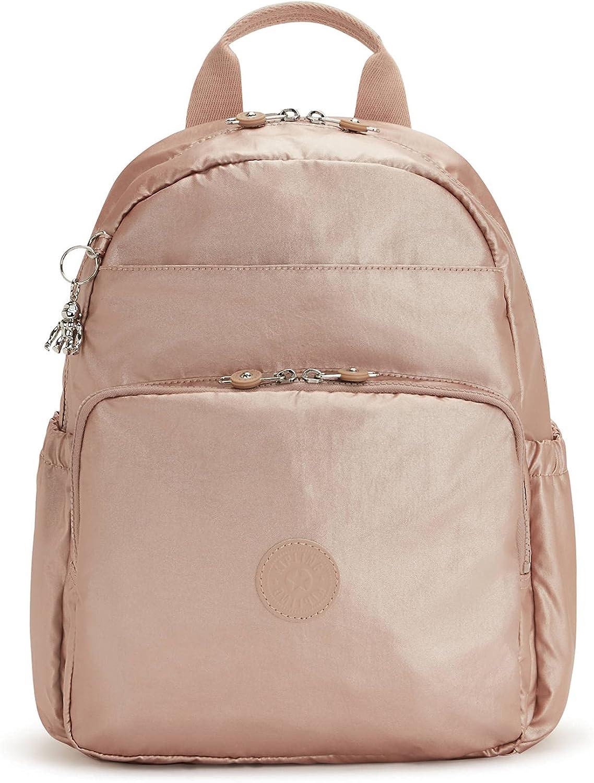 Kipling Maisie Metallic Diaper Backpack Rose Gold Metallic
