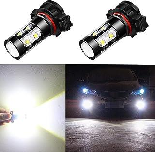 Alla Lighting 5201 5202 LED Fog Light Bulbs CANBUS Xtreme Super Bright 50W 12V LED DRL..