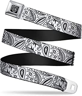 1.5 Wide Buckle-Down Seatbelt Belt 32-52 Inches in Length SNOW WHITE Poses//Apple Halftone Reds//Black