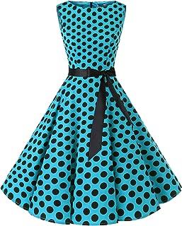 Bbonlinedress Women's 1950s Audrey Summer Vintage Rockabilly Swing Dress
