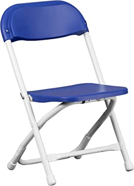 A Line Furniture Dahila Kids Size Blue Folding Chairs 1-Chair
