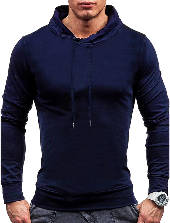 LecGee Mens Sweatshirt Gym Sport Hoodie Casual Long Sleeve Drawstring Hooded Fashion Pullover Hoodies with Pockets