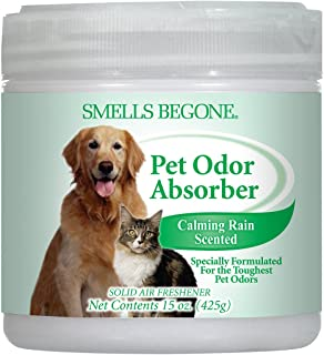 Smells Begone Air Freshener Odor Absorber Gel - Absorbs Odor from Bathrooms, Cars, Pet Areas, Boats and RVs - Made with Na...