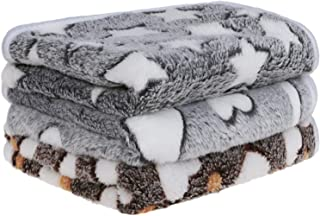 Petsvv 3 Pack Dog Blanket, Soft Fleece Flannel Throw Dog Blanket, Warm Pet Blankets for Cat & Small Dog, Grey Series