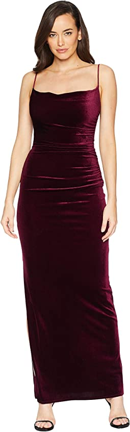Velvet Long Slip Dress