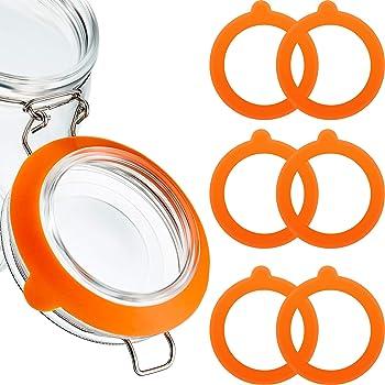 1,1 .5 Kilner Jar remplacement joints en caoutchouc orange fit 0.35,0 .5 2 Ltr CLIP TOP