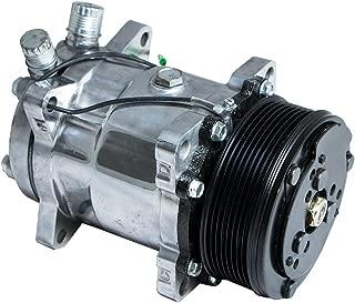 Top Street Performance HC5002C A/C Compressor with Black Clutch (Chromed Serpentine-Belt Sanden 508 R134A Type)