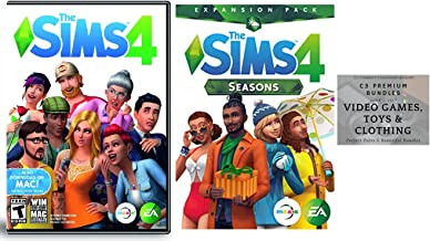 The Sims 4 Seasons Expansion Bundled With The Sims 4 PC DVD Mac Base Game:Physical DVD Bundle & C3 Premium Bundles card