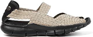 B M BERNIE MEV NEW YORK Women's Juliet Open Toe Sandals with Stylish Cut-Outs - Juliet es una Deportiva Plana con Planta d...