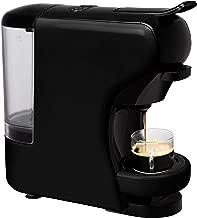 IKOHS Máquina de Café Espresso Italiano - Cafetera Multi Cápsulas Compatible Nespresso 3 en 1, 19 Bares con 2 Programas de Café, deposito extraíble, 0,7 L, Compacto, 1450 W, Apagado automático Negro