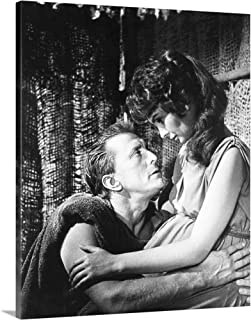GREATBIGCANVAS Gallery-Wrapped Canvas Spartacus, from Left, Kirk Douglas, Jean Simmons, 1960 by 19