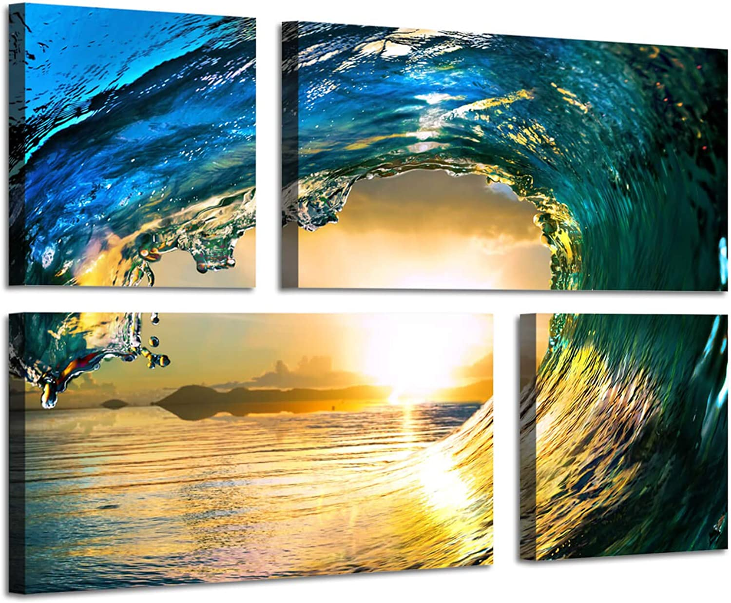 Ocean Artwork Seascape Picture Print  Sea Waves Rolling Graphic Art Print for Wall